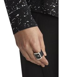 Givenchy | Black Buckled Leather Ring | Lyst