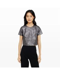 Club Monaco | Gray Amoray Foil Top | Lyst