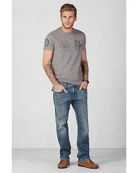 True Religion | Gray True Crew Mens T-shirt for Men | Lyst