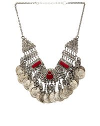 Raga | Red Coin Chain Necklace | Lyst