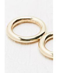 Cheap Monday - Metallic Hoop Ring in Gold - Lyst