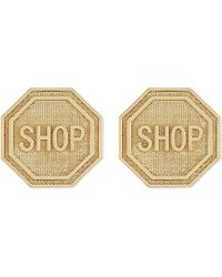 Moschino | Metallic Shop Gold-toned Clip-on Earrings | Lyst