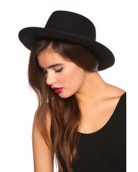 Nasty Gal | Black Madrid Wool Hat | Lyst