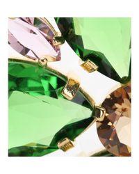 Dolce & Gabbana | Green Embellished Clip-on Earrings | Lyst