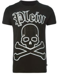 Philipp Plein - Black 'teenage Thug' T-shirt for Men - Lyst