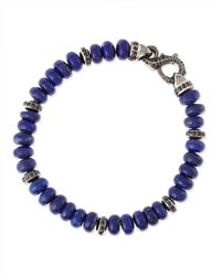 Stephen Webster | Blue Thorn Mens Pave Lapis-Bead Bracelet | Lyst