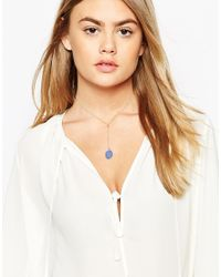 ASOS | Blue Clean Enamel Lariat Choker Necklace | Lyst
