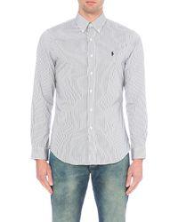 Polo Ralph Lauren - Black Slim-fit Single-cuff Checked Shirt for Men - Lyst