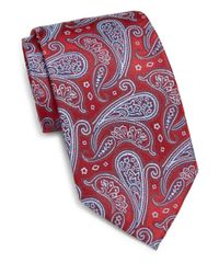 Burma Bibas - Red Paisley Teardrop Silk Tie for Men - Lyst