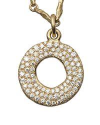Brevard - Metallic Diamond Circle Necklace - Lyst