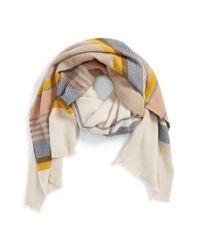 Hinge | Natural 'jacquard Stripe Scarf | Lyst