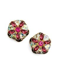 kate spade new york | Multicolor Crystal Stud Earrings - Navy Multi | Lyst