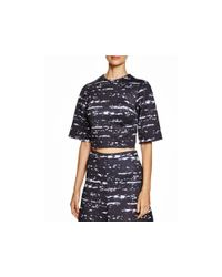 Cynthia Rowley - Black Bonded Elbow Sleeve Shirt - Lyst