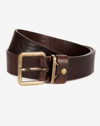 Ted Baker - Brown Metal Keeper Rivet Belt for Men - Lyst