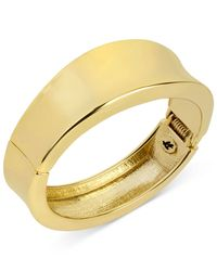 Kenneth Cole - Metallic New York Goldtone Sculptural Hinged Bangle Bracelet - Lyst
