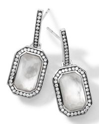 Ippolita | Metallic Sterling Silver Stella Mother-Of-Pearl Earrings With Diamonds | Lyst