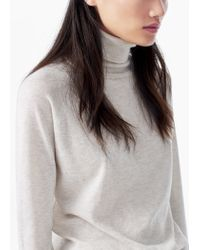 Mango | Natural Essential Cotton-blend Sweater | Lyst