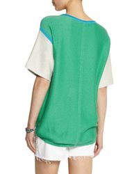 Duffy - Blue Color-Block Cotton-Blend Terry Top - Lyst