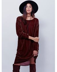 Free People | Brown Cp Shades X Womens Bridget Velvet Dress | Lyst