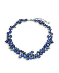 Catherine Stein | Blue Clustered Stone Collar Necklace | Lyst