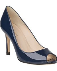L.K.Bennett | Blue Olympia Patent Leather Courts | Lyst