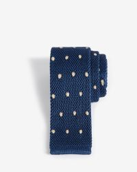 Ted Baker | Blue Knitted Spot Silk Tie for Men | Lyst