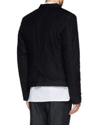 Ann Demeulemeester - Black Notch Lapel Padded Jacket for Men - Lyst