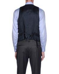 Armani - Black Vest for Men - Lyst