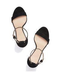 Tory Burch - Black Classic Ankle Strap Sandal - Lyst