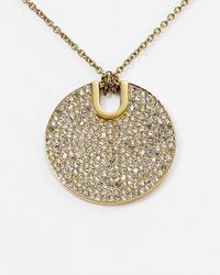Michael Kors | Metallic City Disc Pendant Necklace, 15.5"