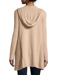 Neiman Marcus | Black Cashmere Hooded Open-front Cardigan | Lyst