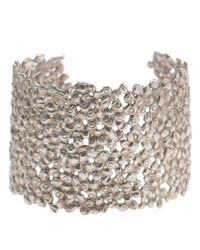 Natasha Collis - Metallic Large Dripped Sterling Silver Cuff - Lyst