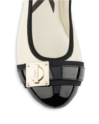 Anne Klein | White If Only Textured Flats | Lyst