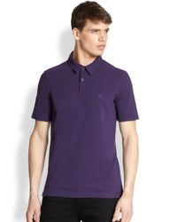 Burberry Brit - Purple Cosway Polo for Men - Lyst