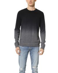 Vince | Black Cashmere Blend Dip Dye Crew Sweater for Men | Lyst