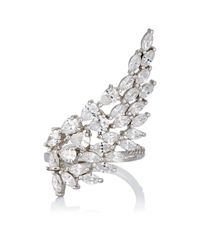 Fallon - Metallic Monarch Cluster Wing Ring - Lyst