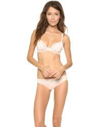 Calvin Klein - White Infinite Lace Plunge Bra - Lyst