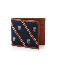 Polo Ralph Lauren Blue Tie Silktrim Billfold Wallet for men