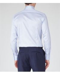 Reiss - Blue Redknap Button-down Cotton Shirt for Men - Lyst