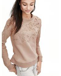 Banana Republic | Pink Applique Sweatshirt | Lyst