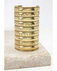 Forever 21 | Metallic Etched Arm Cuff | Lyst