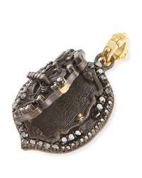 Armenta - Black Pointed Fleur De Lis Locket Enhancer for Men - Lyst