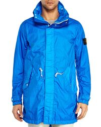 Stone Island | Blue Windbreaker Jacket for Men | Lyst