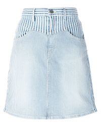 Koral   Blue Striped Denim Skirt   Lyst