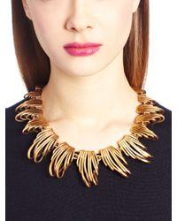 Oscar de la Renta - Metallic Russian Gold Curve Necklace - Lyst