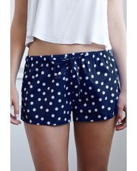 Forever 21 - Blue Polka Dot Pj Shorts You've Been Added To The Waitlist - Lyst