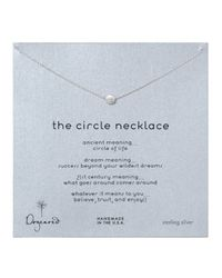 Dogeared | Metallic Circle Necklace | Lyst
