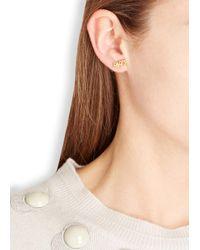 MFP MariaFrancescaPepe - Metallic Paris 23Kt Gold Plated Stud Earrings - Lyst