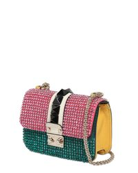 Valentino | Green Small Lock Embellished Leather Bag | Lyst