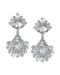 Carolee - Metallic Haute Hollywood Crystal Pear Drop Earrings - Lyst
